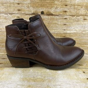 Born Bowlen Leather Ankle Booties